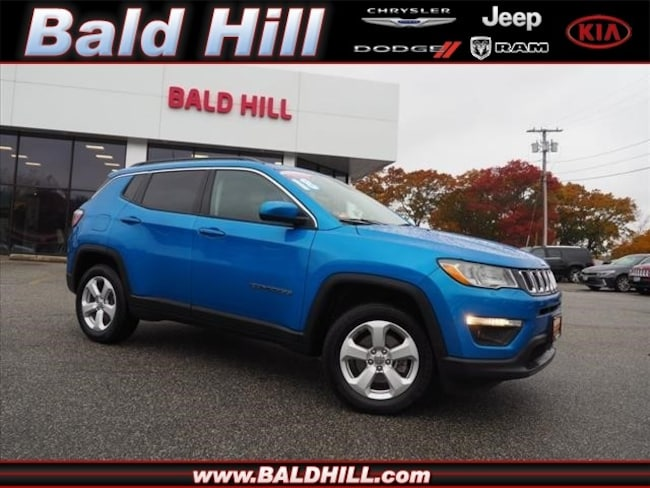 Certified Used 2018 Jeep Compass Latitude 4x4 SUV Automatic 3C4NJDBB7JT160986 in Warwick