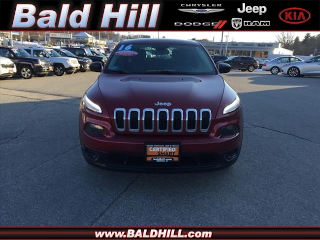 Certified Used 2016 Jeep Cherokee Sport FWD SUV 9-Speed Shiftable Automatic 1C4PJLAB3GW216882 in Warwick