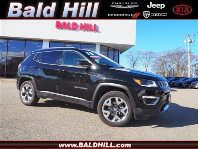 Certified Used 2018 Jeep Compass Limited 4x4 SUV 9-Speed Shiftable Automatic 3C4NJDCB7JT332898 in Warwick