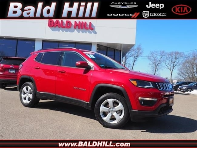 Certified Used 2018 Jeep Compass Latitude 4x4 SUV Automatic 3C4NJDBB8JT393212 in Warwick