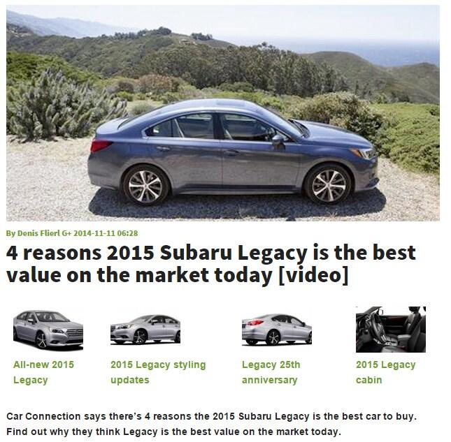 Ford Gulfport: Subaru Dealerships Near Gulfport, MS Agree: New Legacy Is