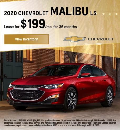 2020 CHEVROLET Malibu LS November
