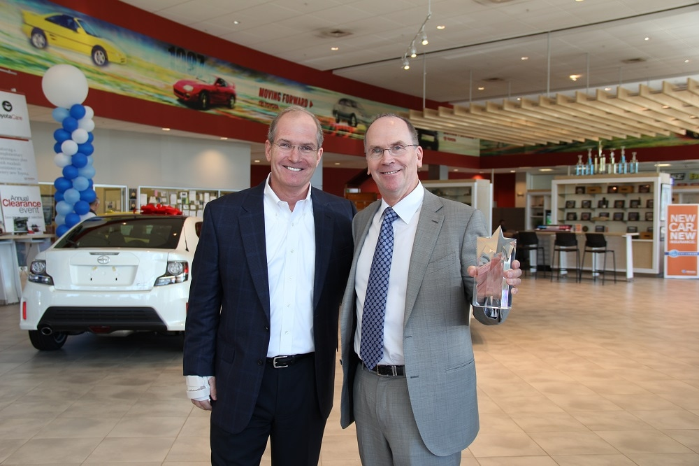 jeb balise honored at balise toyota for 25 years of toyota service. Black Bedroom Furniture Sets. Home Design Ideas