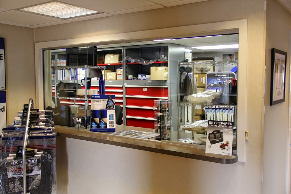 the auto parts window at Balise Hyundai of Cape Cod