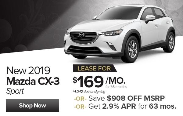 View New 2019 Mazda CX 3 Inventory