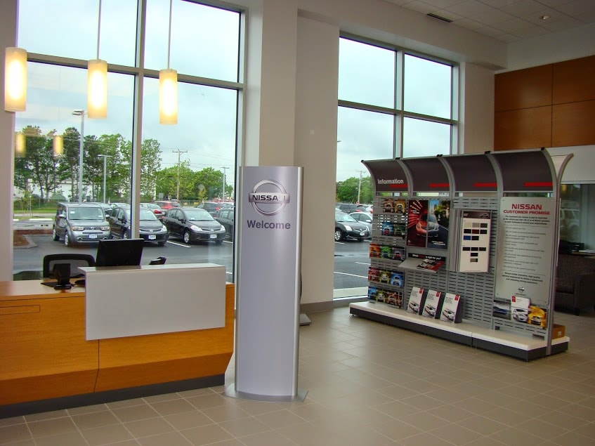 the showroom at our dealership, Balise Nissan of Cape Cod