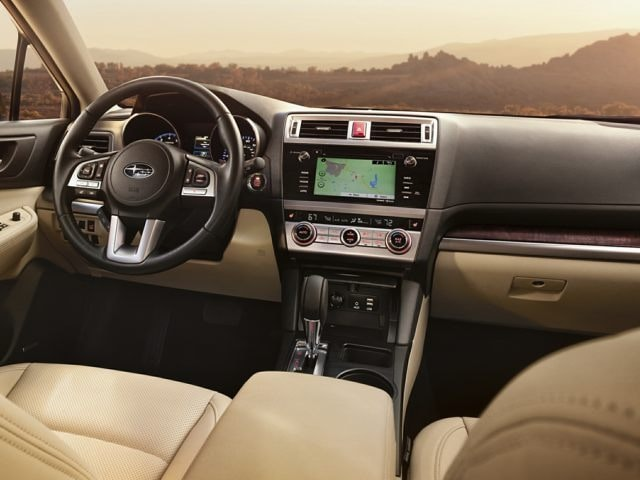 inside the 2017 Subaru Outback