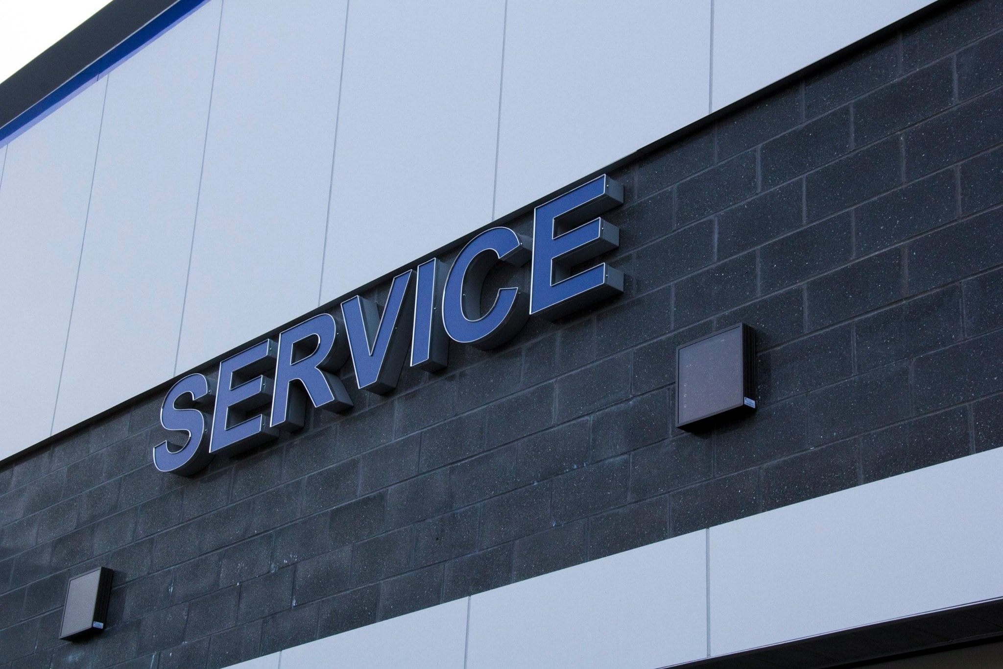 Auto Service Center Sign at Balise Subaru