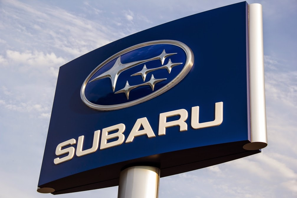 Subaru sign at Balise Subaru