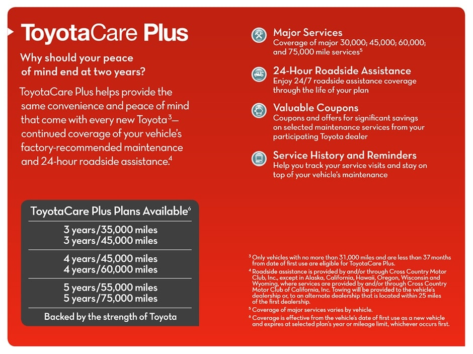 Toyota Care Plus >> Toyota Care Plus Prepaid Maintenance Plan