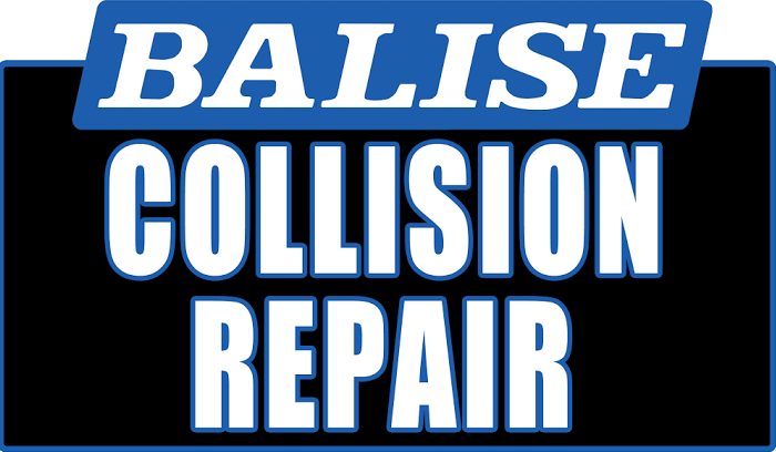 the logo for the Balise Collision Center
