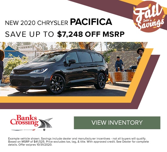 2020 Chrysler Pacifica Save up to $7,248 off MSRP