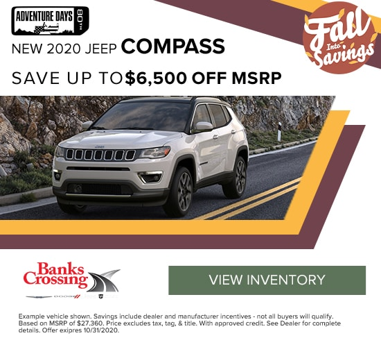 2020 Jeep Compass Save up to $6,500 off MSRP