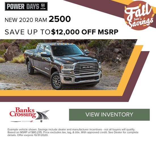 2019 RAM 2500 Save up to $12,000 off MSRP