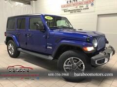 New 2018 Jeep Wrangler UNLIMITED SAHARA 4X4 Sport Utility 1C4HJXEN0JW325839 near Madison WI in Baraboo
