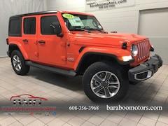 New 2018 Jeep Wrangler UNLIMITED SAHARA 4X4 Sport Utility 1C4HJXEN3JW325852 near Madison WI in Baraboo