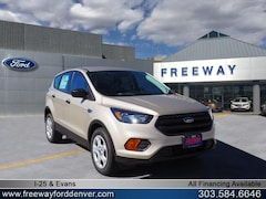 New 2018 Ford Escape S SUV 1FMCU0F76JUA23228 for sale in Denver at Barbee's Freeway Ford Inc.