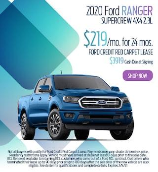January 2020 Ford Ranger SuperCrew 4X4 2.3L