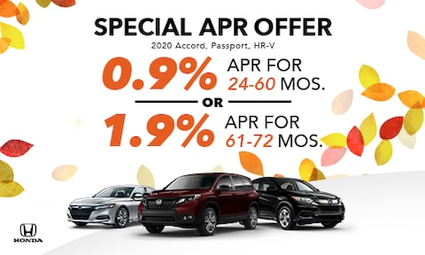 Accord, Passport, HR-V APR Offer