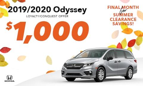 2019/2020 Odyssey Loyalty Offer