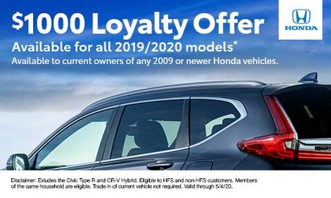 $1000 loyalty offer