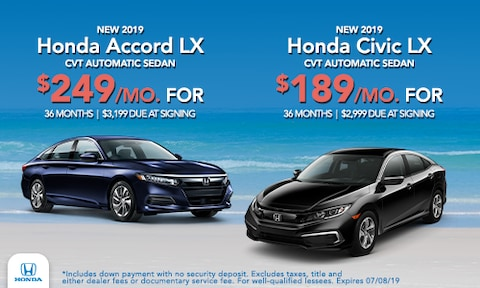 Accord & Civic Offer - June 2019