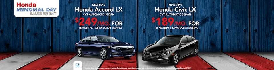Memorial Day Accord & Civic Offer