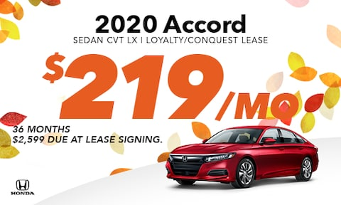 2020 Accord Loyalty/Conquest Lease Offer