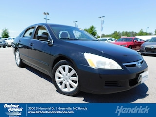 Used 2007 Honda Accord Sdn 4dr V6 AT LX SE Sedan DT11496A for sale in Greenville, NC