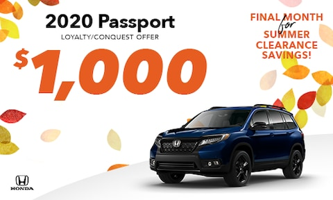 2020 Passport Loyalty/Conquest Offer