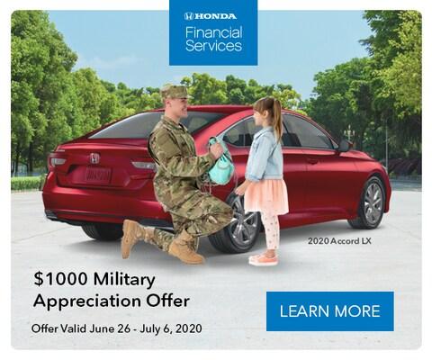 Military Appreciation Offer $1000