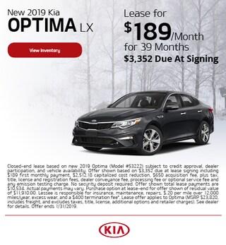 New 2019 Kia Optima LX