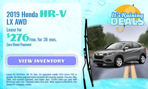 April Special - 2019 Honda HR-V