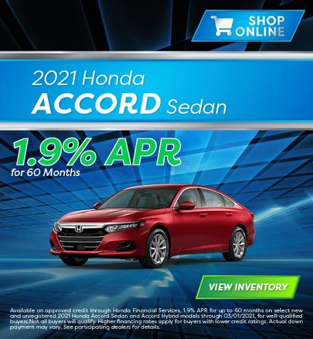 January 2021 Honda Accord Sedan