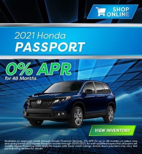 January 2021 Honda Passport