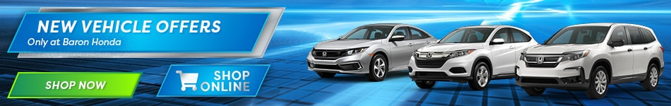New Vehicle Offers Only at Baron Honda