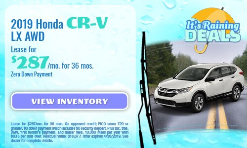April Special - 2019 Honda CR-V