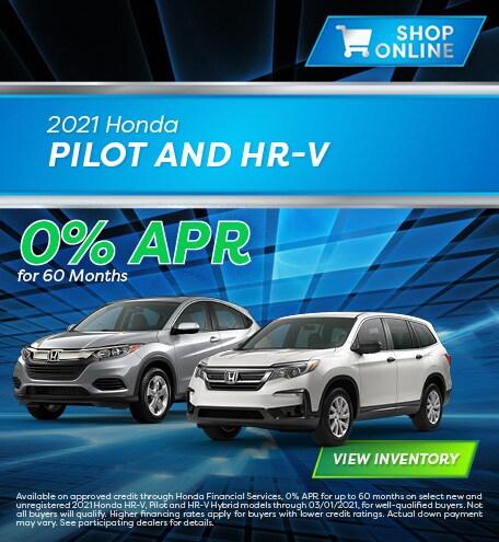 January 2021 Honda Pilot and HR-V