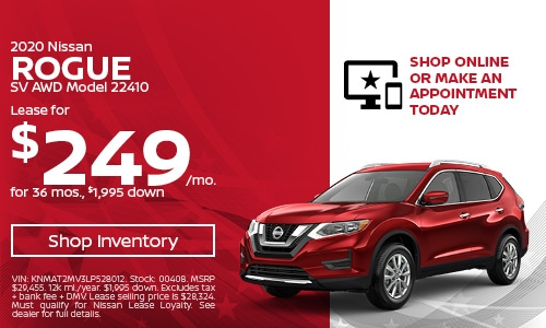 May 2020 Nissan Rogue Lease Offer