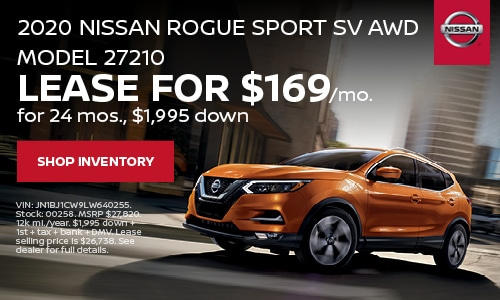 January Rogue Sport Lease Offer