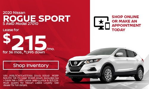 May 2020 Nissan Rogue Sport Lease Offer