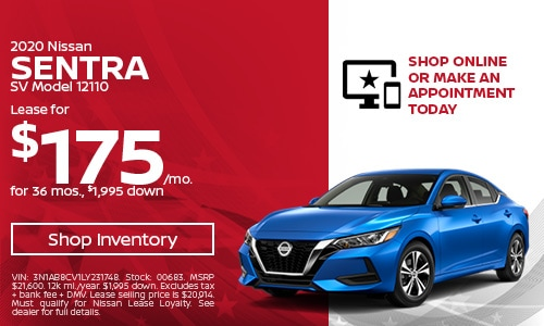May 2020 Nissan Sentra Lease Offer