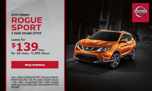 July 2019 Nissan Rogue Sport Lease Offer
