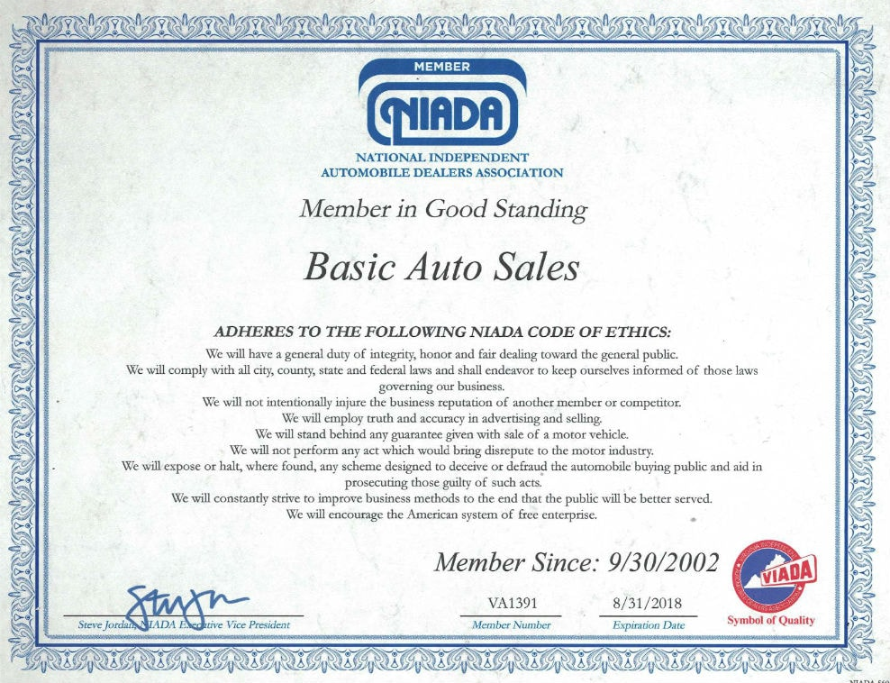 basic auto sales used car dealer in ashland va