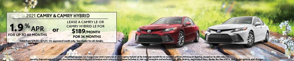 2021 Camry & Camry Hybrid
