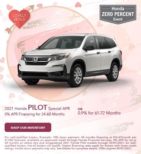 2021 Honda Pilot Special APR - Feb