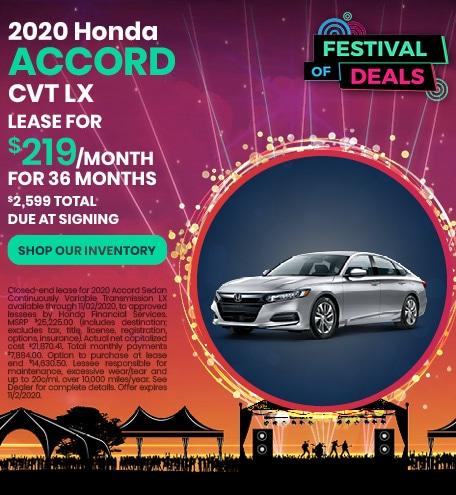 2020 Honda Accord - Sept