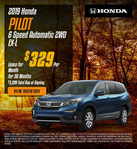 New 2019 Honda Pilot - Oct '19