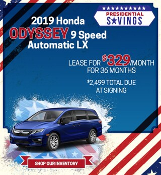 2019 Honda Odyssey 9 Speed Automatic LX - Feb