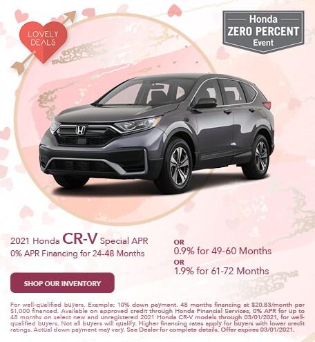 2021 Honda CR-V Special APR - Feb